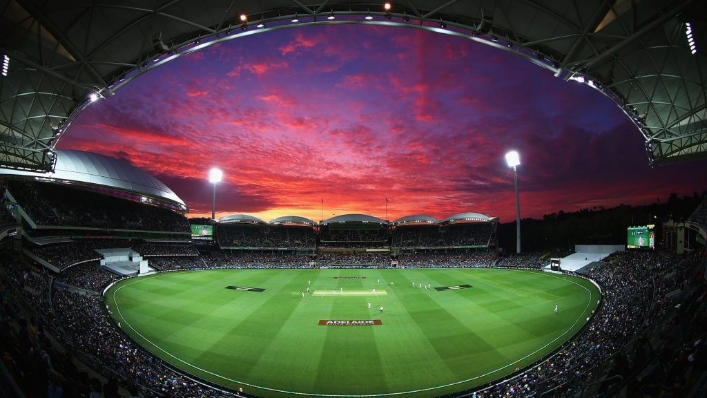 View of Adelaide Oval at sunset