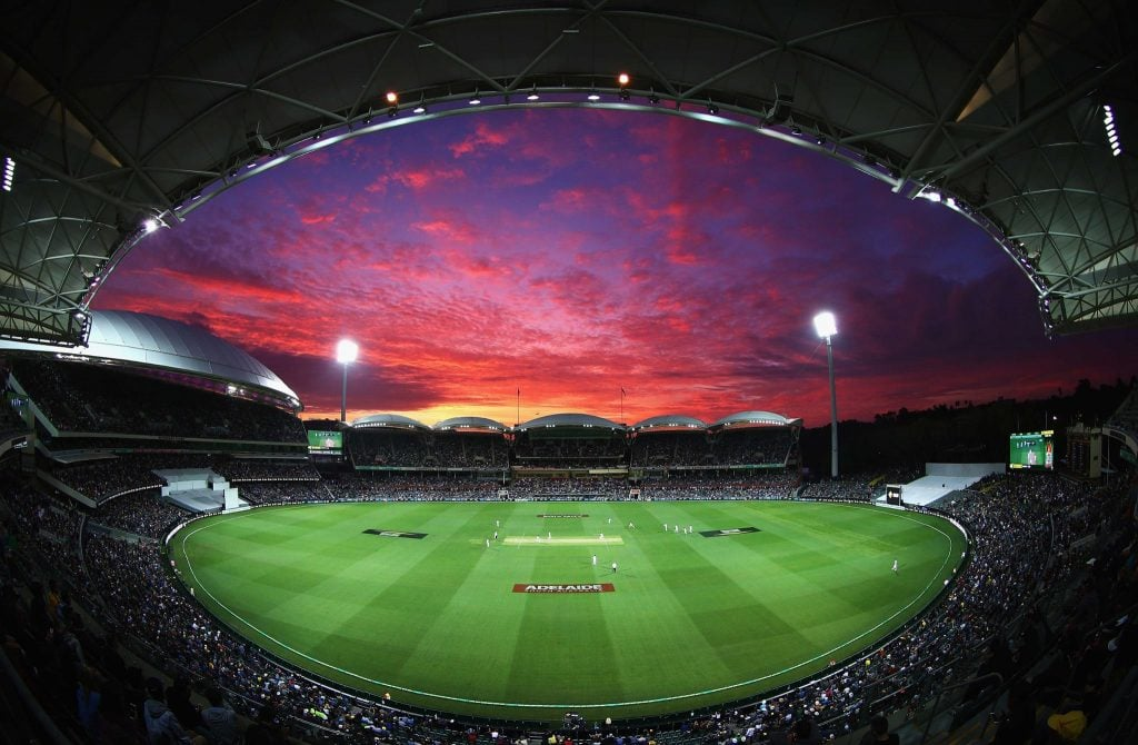 Adelaide Oval RoofClimb at sunset